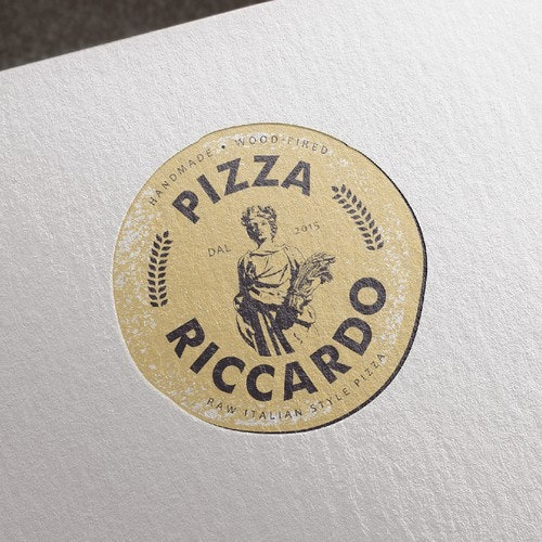 Pizza logo with the title 'Logo for Pizza Riccardo'