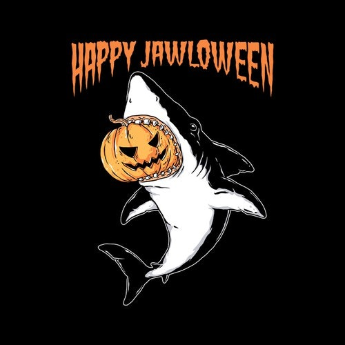 Ocean t-shirt with the title 'Happy Jawloween'