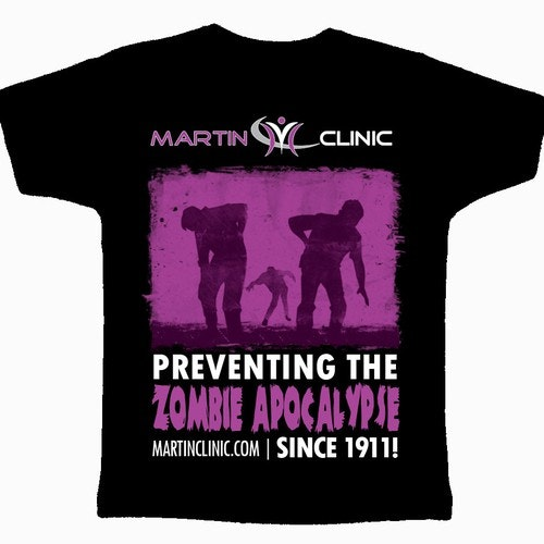 Zombie t-shirt with the title 'T-Shirt Design for Chiropractic Clinic'