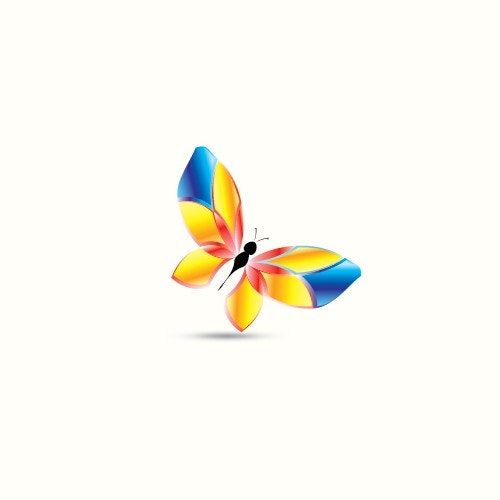 Cosmetics logo with the title 'Butterfly '