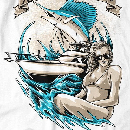 Ocean t-shirt with the title 'T-shirt design for The Knotty Hooker'