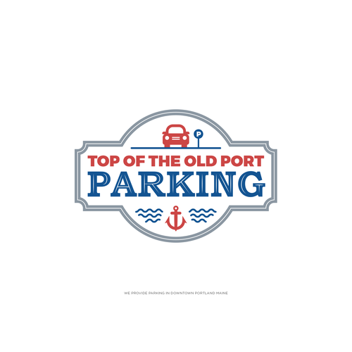 Anchor logo with the title 'Parking Lot Logo'