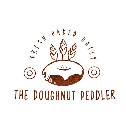Donut logo with the title 'Donut Bakery got Indian '