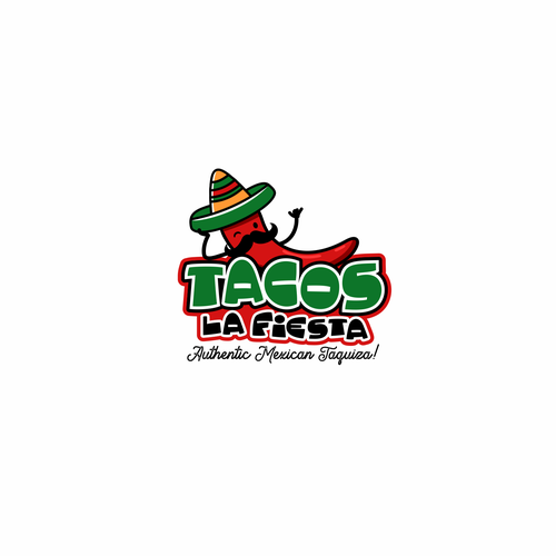 Taco logo with the title 'Tacos Logo'