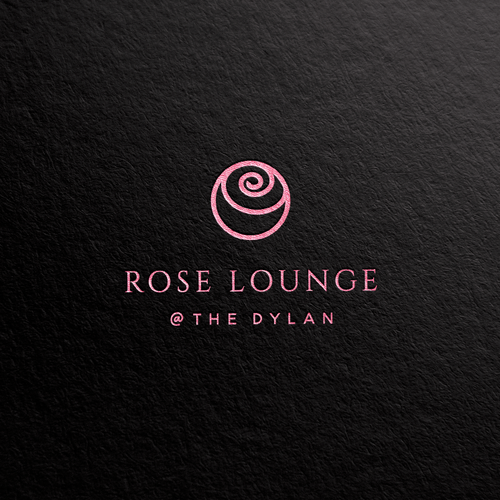 Rose logo with the title 'Rose lounge logo'