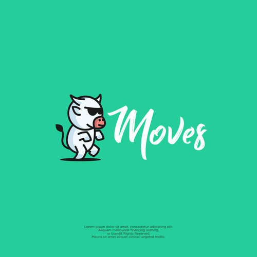 Moving logo with the title 'moves'
