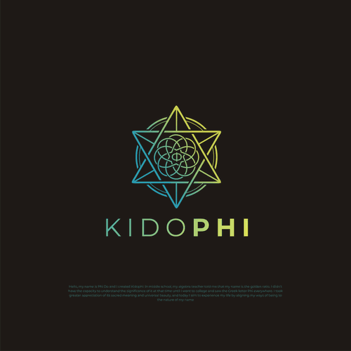 Sacred geometry logo with the title 'Kidophi logo'