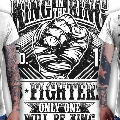 Sports t-shirt with the title 'Create a t-shirt for the King in the Ring 8 Man Elimination Fight Event'