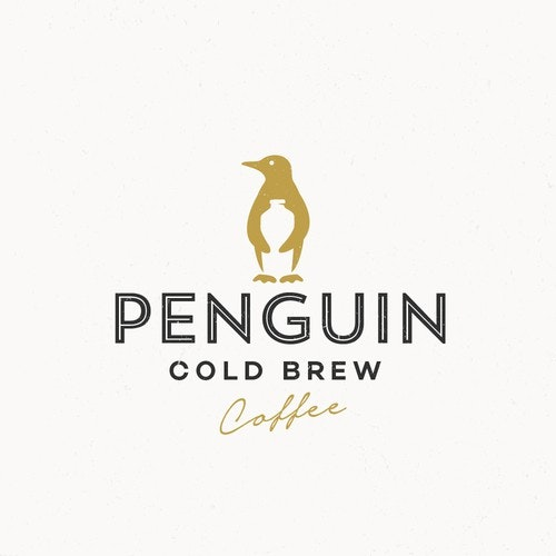 Food logo with the title 'PENGUIN COLD BREW'