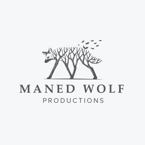 Media logo with the title 'Logo concept for Maned Wolf Productions'