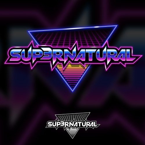 DJ logo with the title 'sup3rnatural'