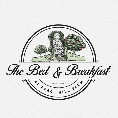 Goat logo with the title 'The Bed and Breakfast at Peace Hill Farm'