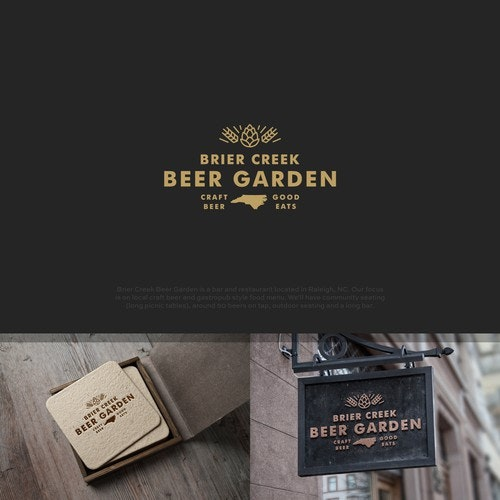 Wheat logo with the title 'Beer Garden'