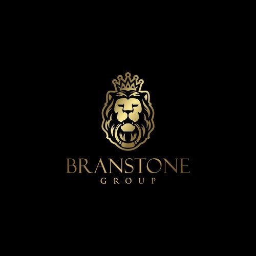 Crown logo with the title 'ROARING design for a real estate investment and management company BRANSTONE GROUP'