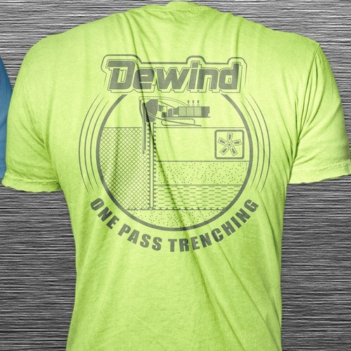 Construction t-shirt with the title 'Design Concept for a Trenching Company'