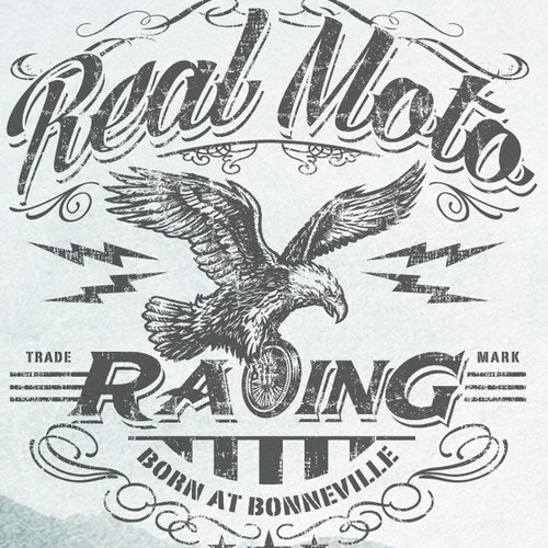 Motorcycle t-shirt with the title 'Create a T -Shirt design for Real Moto Racing - The #1 Moto Lifestyle Brand'