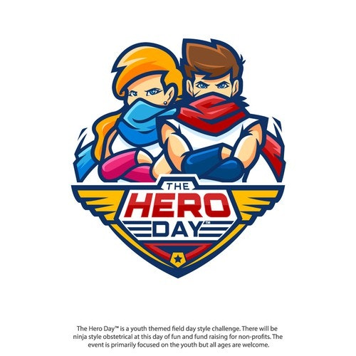Hero logo with the title 'The Hero Day Contest Entry'