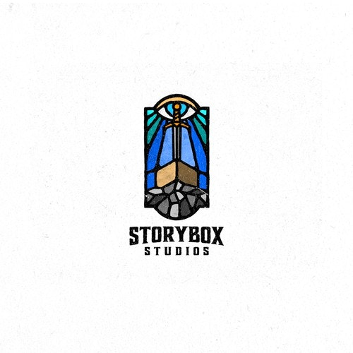 Movie logo with the title 'Storybox Studios'