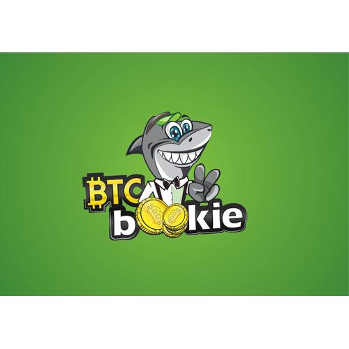 Shark logo with the title 'Logo for Bitcoin e-gambling company'
