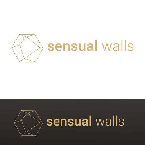 Wall logo with the title 'An elegant logo for an home decor business'