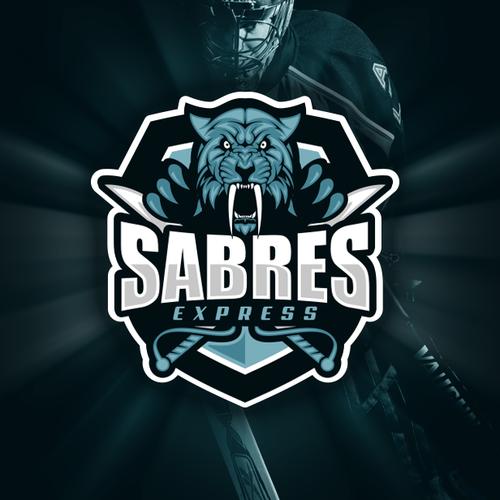Hockey logo with the title 'Hockey team logo'