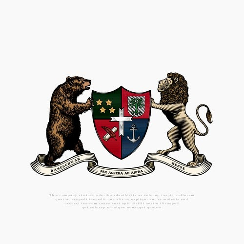Coat of arms logo with the title 'Crest Family'
