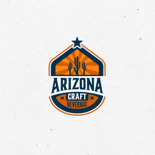 Arizona logo with the title 'Logo concept for Arizona Craft Beverage'