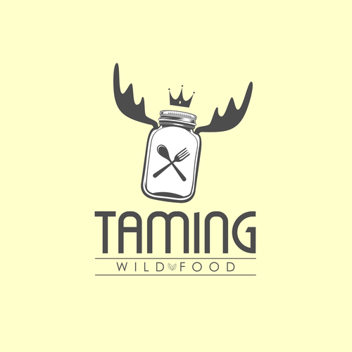 Deer logo with the title 'Will Food Logo'