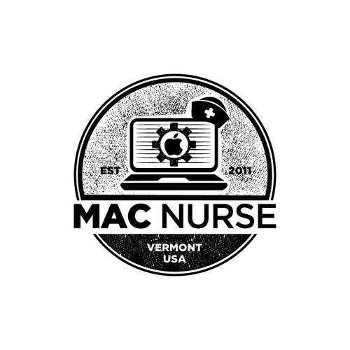 Nurse logo with the title 'New logo for existing computer repair company'