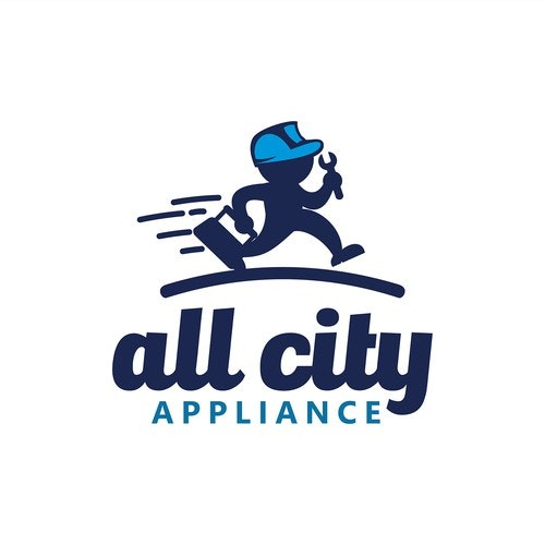 Repair logo with the title 'Logo Design All city Applance'