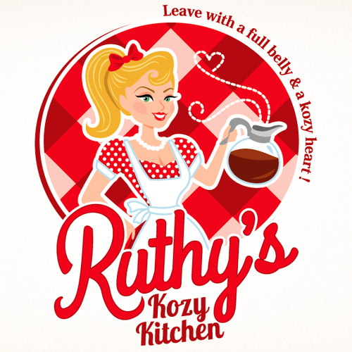Red logo with the title 'Southern Vintage Logo'