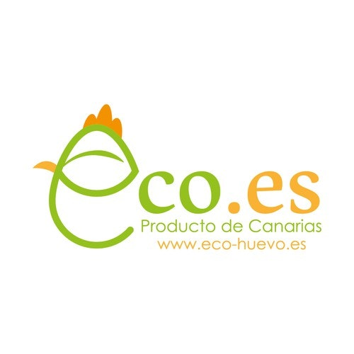 """Hen logo with the title 'Logo for """"Eco-huevo.es""""'"""