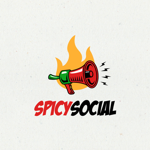 Chili logo with the title 'Spicy Social Logo'