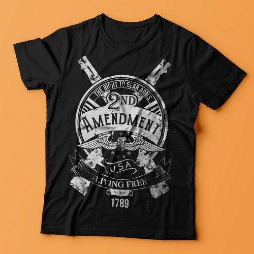Eagle t-shirt with the title '2nd Amendment T-Shirt'