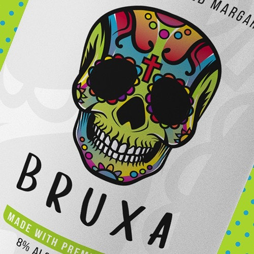 Tequila logo with the title 'Bruxa - Flavoured Margaritas'