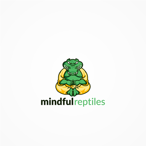 Motivational logo with the title 'Logo concept for Mindful Reptiles'