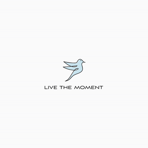 Freedom logo with the title 'Logo for Live the moment'