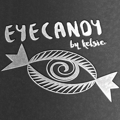 Embossed logo with the title 'Eyecandy beauty'