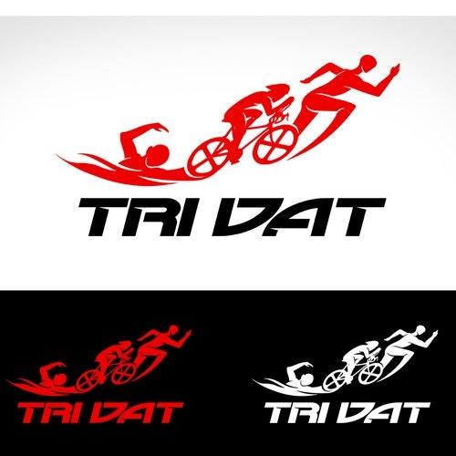 Triathlon logo with the title 'logo triatholn'