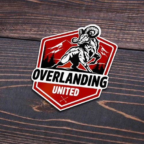 Off-road logo with the title 'Overlanding United'