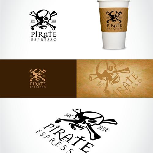 Pirate logo with the title 'logo for Pirate Espresso'