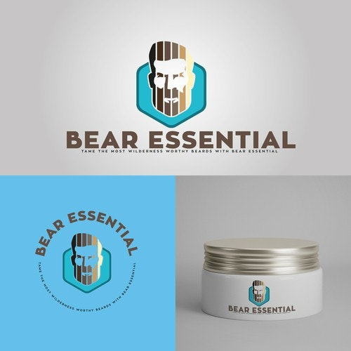 Essential oils logo with the title 'Bear Essential'