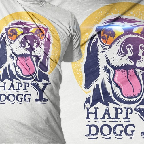Funny t-shirt with the title 'happy doggy tshirt project'
