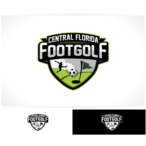 Golf logo with the title 'FootGolf Logo Design'
