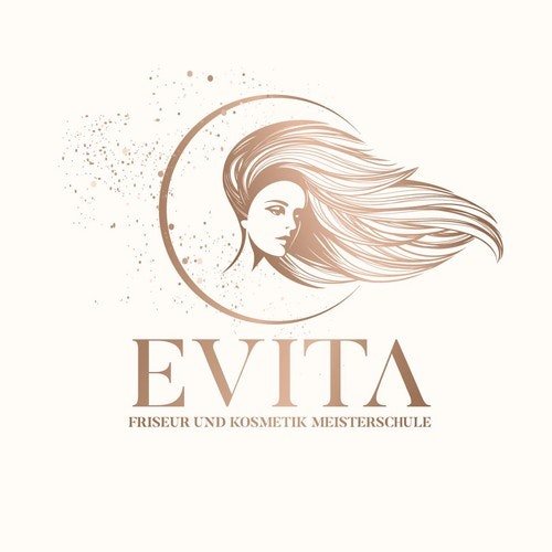 Makeup logo with the title 'Cosmetics & Beauty illustrative logo concept'