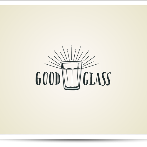 "Glass logo with the title 'Logo for ""Good Glass"" onlineshop wanted!'"