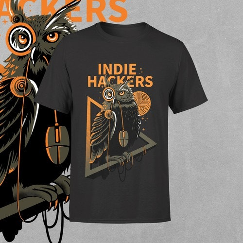 Modern t-shirt with the title 'Indie Hackers'