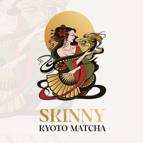 Girl logo with the title 'Skinny Kyoto Matcha'