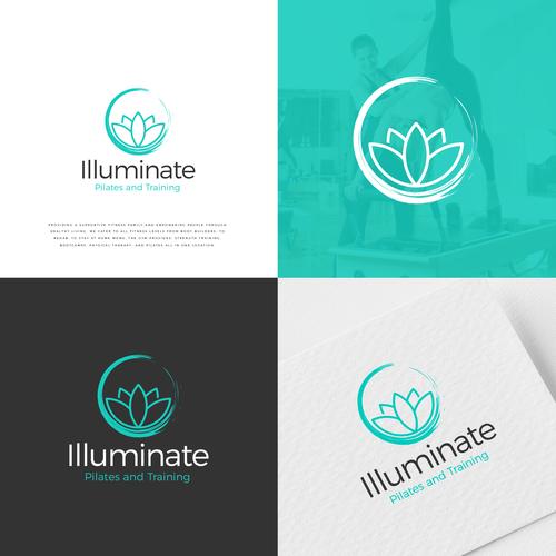 Pilates logo with the title 'Logo Illuminate'