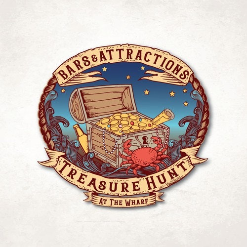 Wave logo with the title 'Bars & Attractions Treasure Hunt '